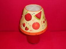 FRUIT COCKTAIL DESIGN HURRICANE  LAMPSHADE FOR CANDLE (NOT INCL)