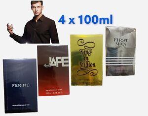 Mens Aftershave Gift Set 100mlx4 (Jape,King In Million,First Man,Ferine) Job-lot
