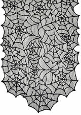 Spiderweb Black Lace Table Runner 80 X 20 Inches Halloween Seasonal Visions
