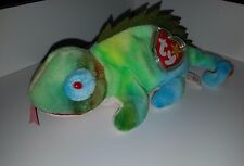 1st Edition TY Beanie Baby Iggy PVC Pellet, Multi Errors/ Ultra rare with tongue