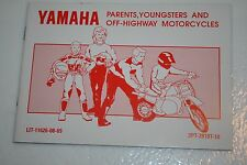 Yamaha motorcycle nos riding tips booklet 1991 pw50 3pt-2819t-10
