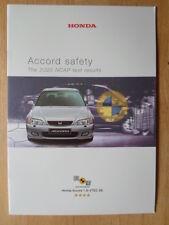 HONDA ACCORD Safety orig 2000 UK Mkt Sales Publicity Brochure