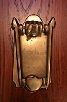 Vintage Heavy Brass Door Knocker Architectural Hardware Arts & Crafts?