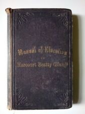 """MANUAL OF ELOCUTION"" by HARCOURT BEATTY (BLAND)/RARE/ORIGINAL HARDBACK/1862"