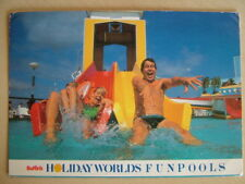 Postcard - BUTLIN'S HOLIDAY WORLDS FUNPOOLS. Used 1987.