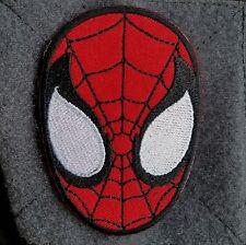 Amazing Spiderman Face Cartoon Comic Movie Superhero Logo Hook Morale Patch Red