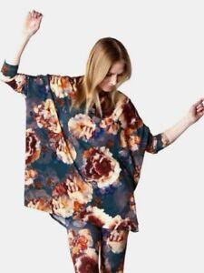 Bryn Walker Dimitri Fiori Floral Print Jersey Boxy Tunic Top M