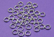 5mm 925 Sterling Silver split ring Jump Rings 12pcs.