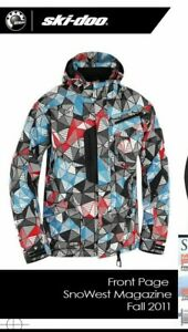 Ski-Doo Snowmobile Mcode Mountain Jacket 440561 Mens L Prism Red/Blue/Black 2011