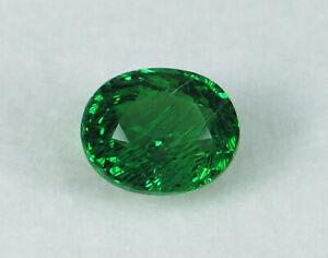 Rare Big Size Tsavorite Green Garnet Smooth Oval Cabochon Loose Gemstone 12x16x7mm 10.35 Cts 8997-99