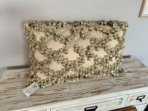 NEW Sweet Dreams Pillow Bed Sham Gold Lace Neiman Marcus $245