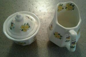 A small Cream and Sugar  set