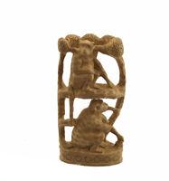 Estatua Monos De Pareja Madera de Kadam Escultura Indienne D'Art 3615