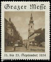 Reklamemarke Grazer Messe - Straßenbahn - 430654
