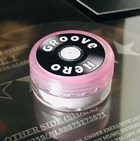 Groove Hero Stylus Cleaner. Pink Tub. Gentle Stylus Cleaning.