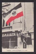 SWITZERLAND 1916 Illustrated-postcard, the consulate affair