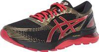 Asics Gel Nimbus 21 Men Black/Classic Red Synthetic & Mesh Running Shoes 11 M US
