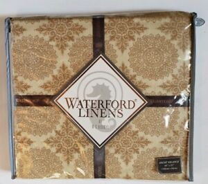 """Waterford Linens Ballingary Ascot Valance Gold NEW 40"""" x 25"""""""