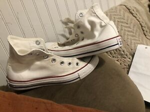 Size 7 - Converse Chuck Taylor All Star High Top Optical White No Laces Women's