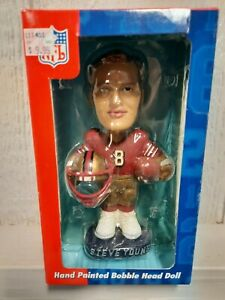 Steve Young San Francisco 49ers NFL Limited Edition Hand Painted Bobblehead, NOS