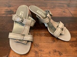 Paul Green Munchen Tan Strappy Sandals Heels, Size 10 (US) 7.5 (UK)