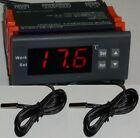 Differential Temperature Controller Water Heater Solar Panel Water Pump 2 Sensor