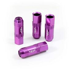 VMS 20 PURPLE 60MM ALUMINUM EXTENDED TUNER LUG NUTS LUGS FOR WHEELS RIMS 12X1.5