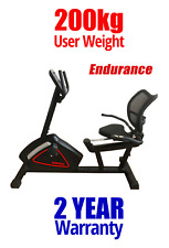 FREE POST NEW Endurance Recumbent PROGRAMMABLE Exercise Bike 200KG