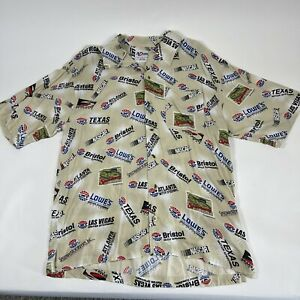 VINTAGE Chase Racing Speedway Button Up Shirt Adult Nascar Racing Large