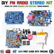 DIY Stereo FM Radio KIT Electronic Module + 250mah Battery 76MHz-108MHz GS1299