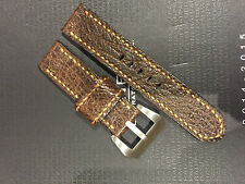 Italian calf Leather Handmade 24mm Watch Strap for Panerai