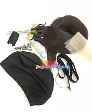 Complete Wig Kit 3. Dome cap. Straight hair extension.Elastic tape.Needle.Thread