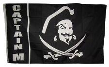 3x5 Jolly Roger Pirate Captain M flag banner grommets