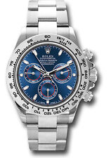 Rolex Cosmograph Daytona White Gold Blue Dial Mens Watch 40mm 116509