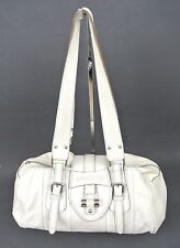ROBERT PIETRI Large WHITE Leather Shoulder Tote Handbag Purse *Mint* *1008