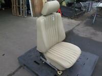 86-91 MERCEDES W124 FRONT RIGHT POWER SEAT CREAM BEIGE MB-TEX VINYL (175) OEM