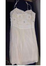 Ivory silk & Balinese lace wedding dress size 10-12 & Flower Crown & Sandals