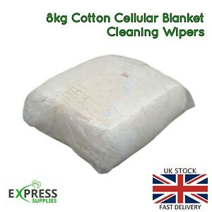 Cellular Blanket Cleaning Wipers Garage Rags Polishing (Select Your Bag Size!)
