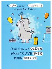 Open Male Birthday Card~ Humour ~ Elephant~ Son~ Uncle~Dad~Free P&P