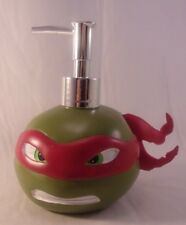 New Teenage Mutant Ninja Turtle Raphael Ceramic Head Soap Dispenser Soap Pump