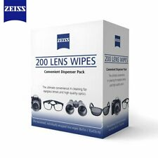 200 Zeiss Premoistened Wrapped Lens Glasses Screen Cleaning Cloth Wipes