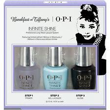 OPI Infinite Shine Breakfast At Tiffany's Nail Polish Collection 3x15ml Pack NEW