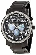 NEW Akribos XXIV AKR439BK Men's Grandiose Diamond Quartz Chronograph Black Watch