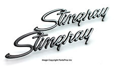 NEW Trim Parts Stingray Emblem PAIR / FOR 1969-73 CHEVROLET C3 CORVETTE STINGRAY