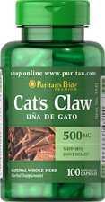 Cat's Claw 500 mg x 100 Capsules Puritan Pride ** AMAZING PRICE **