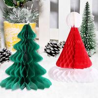 3PCS CHRISTMAS TREE HAT CAP HONEYCOMB PAPER HOME HOLIDAY PARTY XMAS DECOR ALL