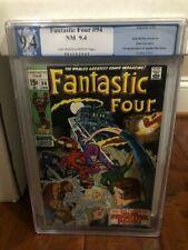 Fantastic four # 94  CGC  PGX  9.4  ( 1st app. Agatha Harkness )