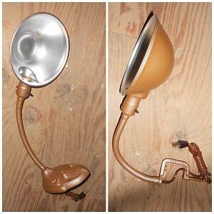NEW Industrial RODALE Vintage UTILITY Light DESK Lamp RETRO Gooseneck NOS 987 88