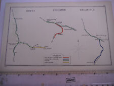 HELLIFIELD NEWSHOLME DENT HAWES KIRKBY STEPHEN STOURTON HUNSLET RAILWAY MAP 1907