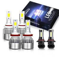 For Toyota Tundra 2007-2013 Combo LED Front Headlight Hi/Lo Beam+Fog Light 8000K